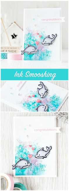 Ink smooshing is a fun and easy technique to create great backgrounds. Find out more by clicking the following link: http://limedoodledesign.com/2015/08/ink-smooshing/