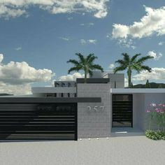 special edition modern house design for your 2020 architectural inspiration House Gate Design, Door Gate Design, House Front Design, Fence Design, Modern House Design, Front Gates, Entrance Gates, House Entrance, Modern Exterior