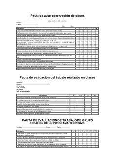 Pauta de auto-observación de clases (Uso exclusivo del docente). Fecha…