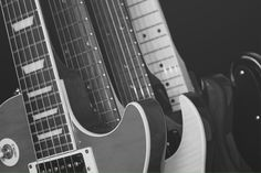 black and white photos | File:Black and White Guitars.jpg - Wikimedia Commons