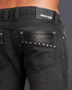 Affliction Clothing. Denim Pants:  Ace Seam Stud
