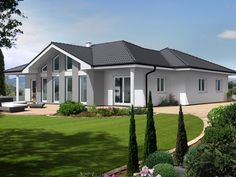 Elegance 160 W House Layout Plans, House Layouts, Town Country Haus, Living Haus, Bungalow House Plans, Contemporary House Plans, House Elevation, My Dream Home, Interior Design Living Room