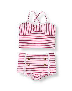 Janie & Jack Striped Two-Piece Swimsuit $39