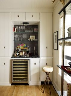 Client Inspiration: Built-in Bar - Skaneateles Lake House by Thom Filicia