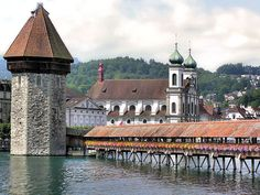 Lucerne  ....... The Chapel Bridge           Glad I got to see it