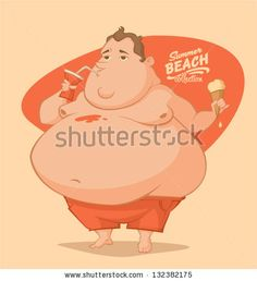 Fat guy by Doremi, via ShutterStock