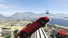 Amazing landing after getting hit mid-air!(GTA5 Online)