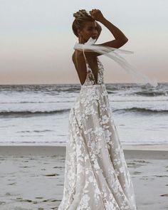 18 Most Pinned Wedding Dresses ❤ most pinned wedding dresses a line with spaghetti straps beach madewithlovebridal #weddingforward #wedding #bride #weddingoutfit #bridaloutfit #weddinggown