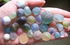 SCOTTISH SEA GLASS BEACH FINDS 28 various MARBLE pieces or mis- shapes in Crafts, Glass Art Supplies | eBay