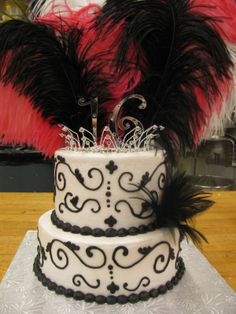 birthday cakes 16 - like this one minus the feathers.
