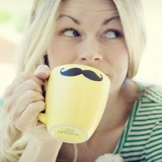Make your own mustache coffee mug
