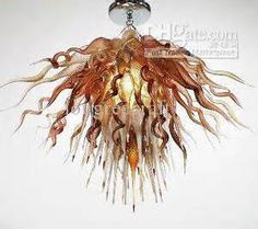 Wholesale - LR175--Free shipping hand blown glass chandelier