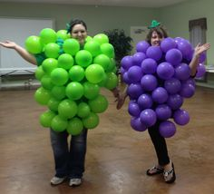 My sissy n law and I needed costumes for secret sister at our church.  sc 1 st  Pinterest & Coolest Grapes Costume | Purple balloons Costumes and Fruit costumes