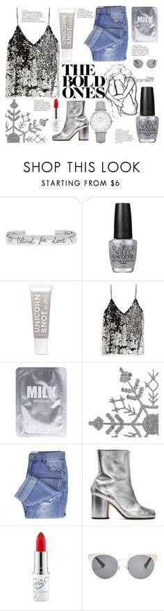 """Silver Stars"" by luna-granger7 ❤ liked on Polyvore featuring Gucci, OPI, Samsøe & Samsøe, Lapcos, Taya, Maison Margiela, MAC Cosmetics, Christian Dior, CLUSE and Silver"
