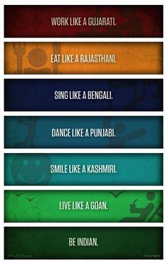 Unity in Diversity Indian ! Unity In Diversity Quotes, Diversity Poster, Unity Quotes, Desi Problems, Punjabi Jokes, Punjabi Funny, India Quotes, India Poster, State Of Decay