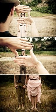 Yes! Must be made! Cute couple photography idea.