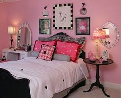habitaciones en rosa y negro para jovenes 07 400x327 habitaciones en rosa y negro para jovenes 07