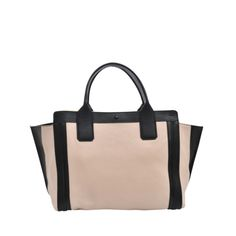 Alison tote by Chloé. Two tone black and rosy beige lizard printed. #monnierfreres #bag #chloé
