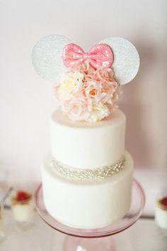 Cake from an Elegant Minnie Mouse Boutique Birthday Party via Kara's Party Ideas! KarasPartyIdeas.com (4)