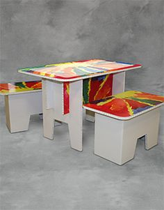 FunDeco! Kids Craft Table. Kids Playroom Ideas! Lightweight, Affordable, Made in the USA