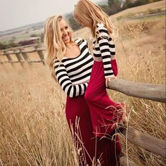 Family Matching Outfits baby girl clothes and mom dresses fashion Striped cute striped stitching sleeve female childrens cl