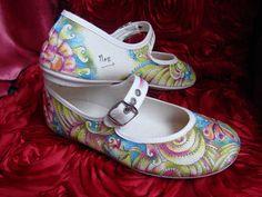 zapatillas pintadas a mano, 100% algodón, fabricadas en España