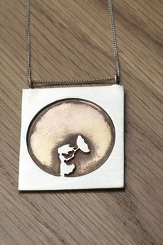 Girl in the wind silver and brass by NatashaWoodJewellery on Etsy, $90.00