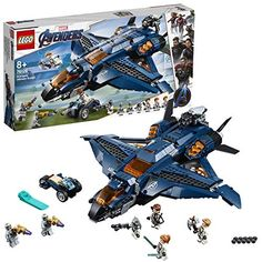 Buy LEGO Super Heroes: Avengers - Ultimate Quinjet at Mighty Ape NZ. LEGO Super Heroes: Avengers – Ultimate Quinjet Team up with the Avengers and fly into conflict against the Chitauri in the LEGO® Marvel Aveng. Lego Marvel's Avengers, Lego Batman, Minifigura Lego, Legos, Marvel Avengers Movies, Films Marvel, Avengers Team, Lego Marvel Super Heroes, Lego Toys