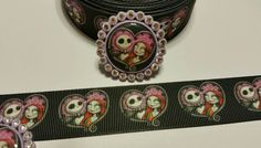 2 Yds & 2 Caps The Nightmare Before Christmas Inspired Grosgrain Ribbon…