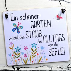 Sign A SCHÖNER GARTEN Enchanting garden sign with the inscription: A beautiful garden wipes the dust of everyday life from the soul to decorate the garden. Great gift idea for garden lovers, hobby gar Garden Care, Amazing Gardens, Beautiful Gardens, Beautiful Beautiful, Lawn And Garden, Garden Tools, Herbs Garden, Lawn Sign, Garden Quotes