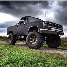 lifted trucks rise above the challenge. Lifted Chevy Trucks, Dodge Trucks, Jeep Truck, Chevrolet Trucks, Chevrolet Silverado, Cool Trucks, Pickup Trucks, On The Road Again, Square Body