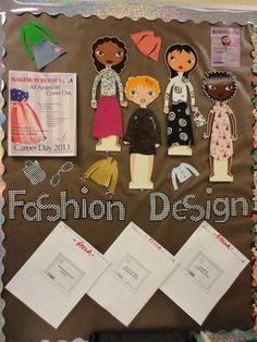 Fashion Design@HFHS:  Bulletin board for class...