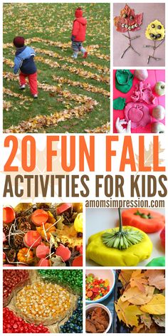 20 Fun Fall Activities for Kids, these DIY fall ideas and crafts are perfect for family activities and everyone loves them!  Welcome Fall!