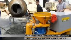 Working Video of SPZ3000 Wet Mix Concrete Shotcrete Machine