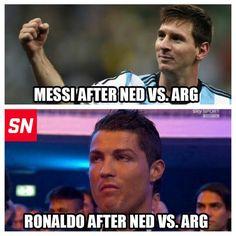 Humour : La tête de Cristiano Ronaldo lors de la qualif' de Lionel Messi - http://www.actusports.fr/111878/humour-tete-cristiano-ronaldo-lors-qualif-lionel-messi/