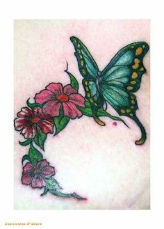 Fairy Butterfly Flower Tattoos