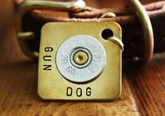Extra Large Gun Dog Personalized Dog ID Tag. $17.00, via Etsy.