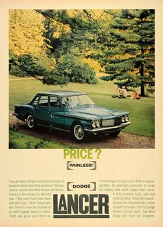 1960 Ad Dodge Lancer Automobile Vintage Car Trees Park - ORIGINAL CARS7
