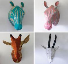 cat·ty·wam·pus·kat: To Buy Or DIY: Papier-Mâché Animal Heads