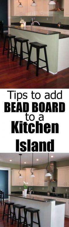 back of kitchen island panel bead board
