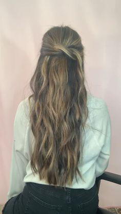 Hairstyles Short Videos Half Up - Hairstyles Loose Curls Hairstyles, Down Hairstyles, Braided Hairstyles, Hair Extension Hairstyles, Casual Hairstyles For Long Hair, Viking Hairstyles, Simple Hairstyles, School Hairstyles, Everyday Hairstyles