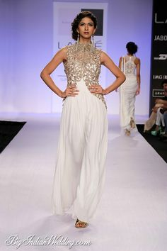 White Goddess dress by Sonaakshi Raaj at LFW S/R 2014