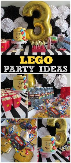 What a cool Lego birthday party! Love the cake! See more party ideas at CatchMyParty.com!