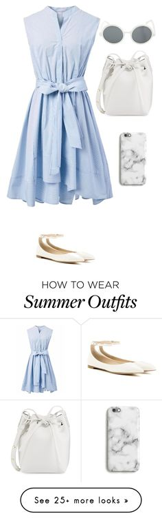 """Smart Beach Outfit"" by immi-clark on Polyvore featuring Chicwish, Gianvito Rossi, Mansur Gavriel, Harper & Blake and Hot Topic"