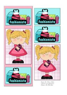 Fashionista Card Front on Craftsuprint designed by Rhonda Brittain - A quick and easy card to make for a birthday or friend. - Now available for download!