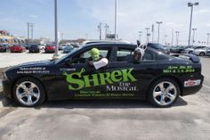 Look who we caught joyriding in a 2014 Dodge Charger! It's Shrek and Donkey! Have you purchased your tickets to KVTA's production of Shrek the Musical? Find them at KVTA.org!
