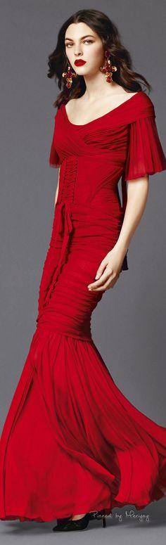 Love, Love, Love, Love, Love this amazing red dress! ♔Dolce & Gabbana.2015♔