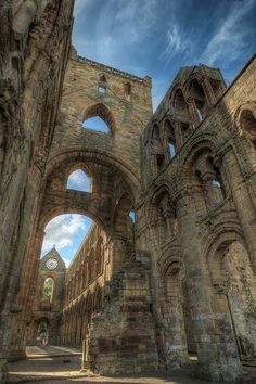 Jedburgh Abbey, Scotland....massive and ancient abandoned cathedral with roof long gone