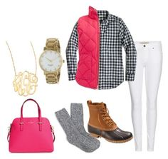 """""""hot pink"""" by preppy-lilly-girl on Polyvore featuring Burberry, J.Crew, L.L.Bean, Kate Spade and Jennifer Zeuner"""