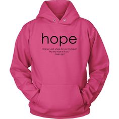 """Hope"" Design-Black Font"